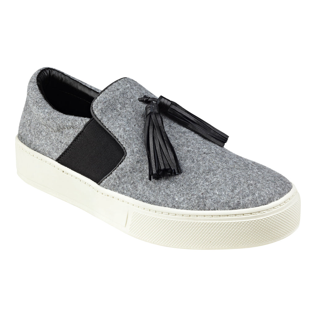 Marc Fisher, grey flannel slip-on