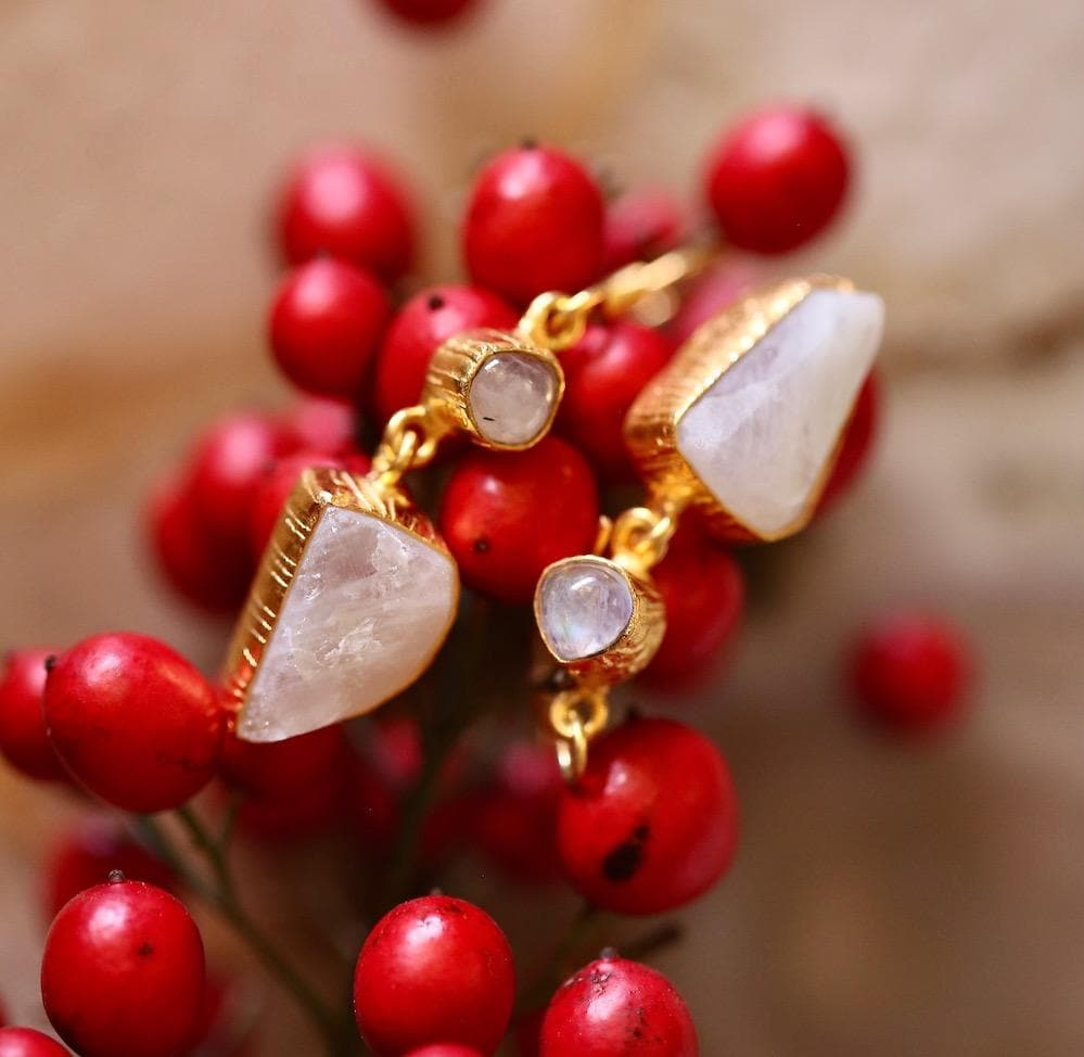 Nilima Moonstone Earrings