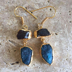 Bhavna Garnet + Apatite Earrings