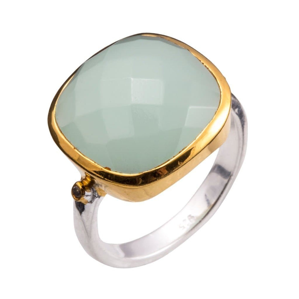 Chalcedony Allure Two-Tone Ring - Sterling Silver