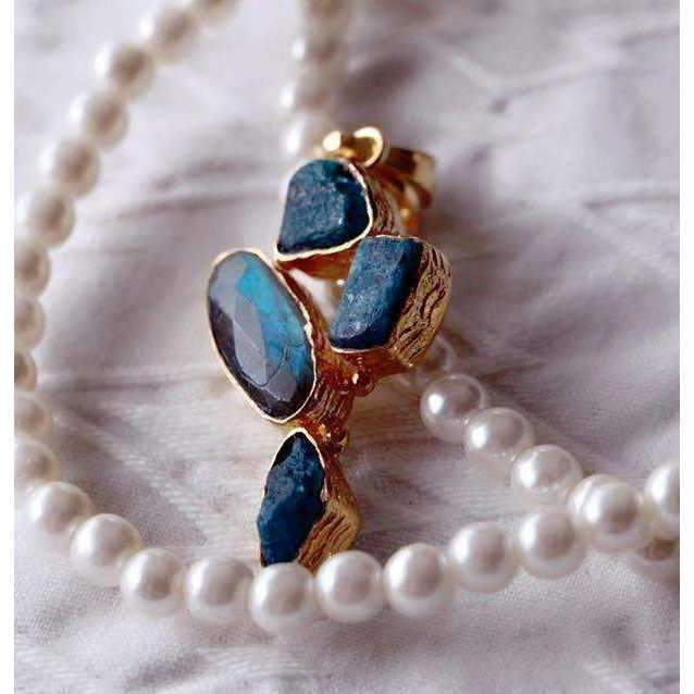 Lopa Labradorite + Apatite Necklace - Sitara Collections