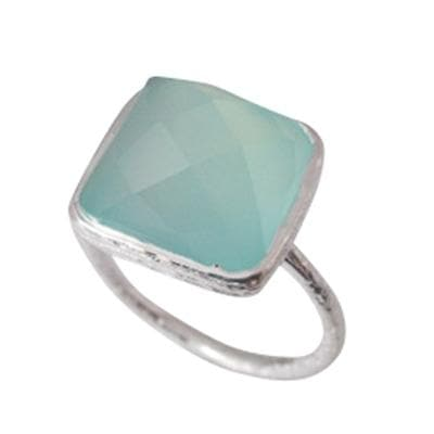Saturday in the Park Sterling Chalcedony Ring