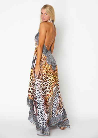 648 Animal print exotic Hawaii dress  BACK IN STOCK