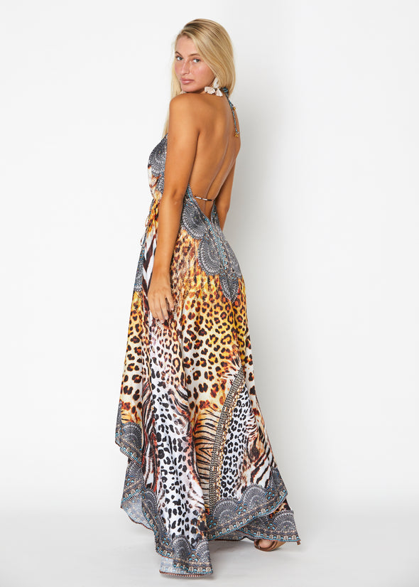 Animal print exotic Hawaii dress SOLD OUT