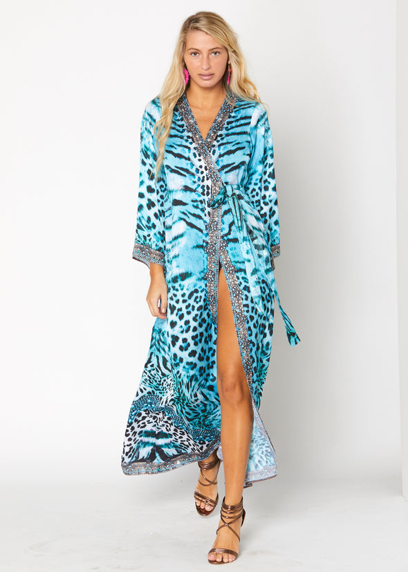 Ranee's Kimono - Blue cheetah JUST ARRIVED