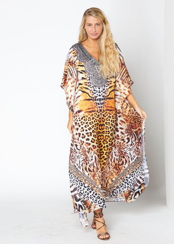 110 long kaftan with crystal