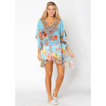Baby Blue short kaftan