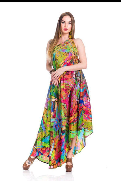 Stained Mirror, multicolor 3 way dress