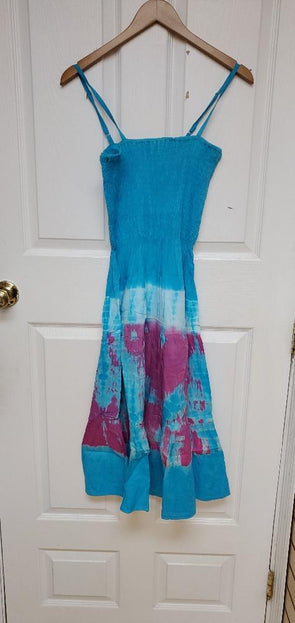 Tie die beach dress