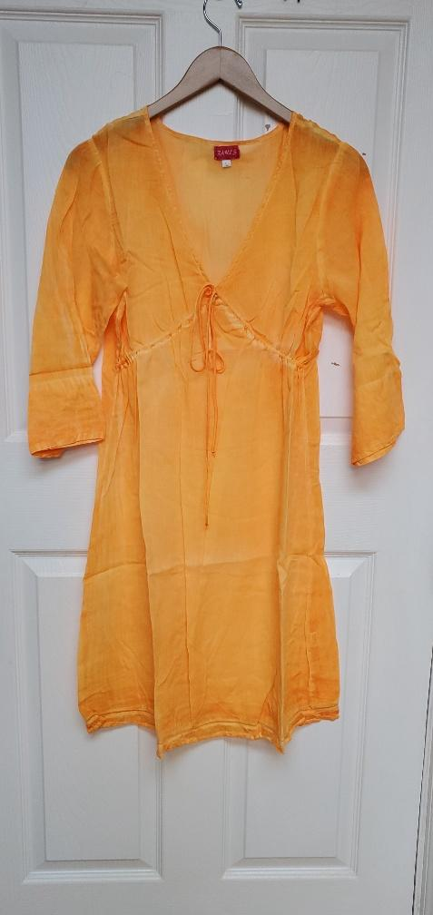 Boho Orange tunic, beach style