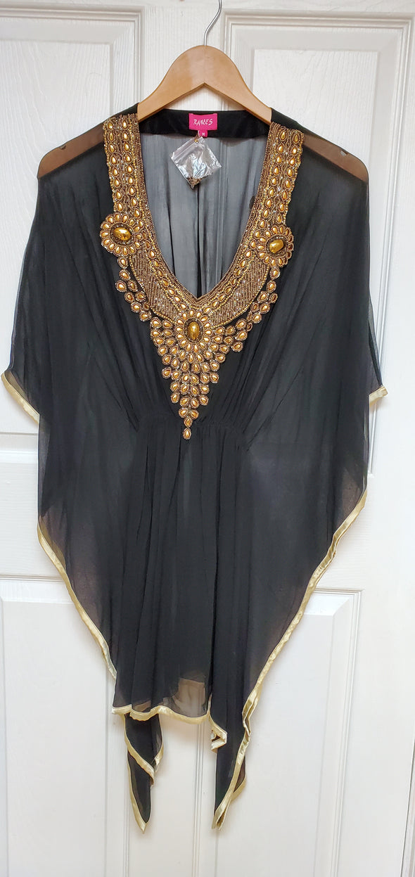 Copy of BEADED V-NECK TUNIC TOP