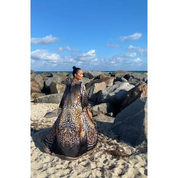 Fierce Animal print Hawaii dress