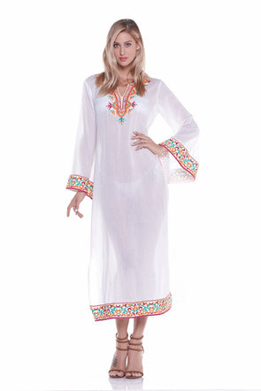 Long embrodiered tunic