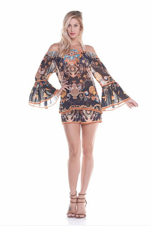 Cold shoulder beach coverup / wholesale beach cover up