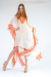 KK 065 - Ranee's Orange Flower Dress - PREORDERS ONLY