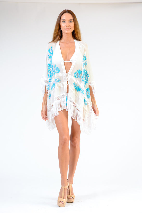 KK 070 - Ranee's lace up Turquoise Robe - PREORDERS ONLY