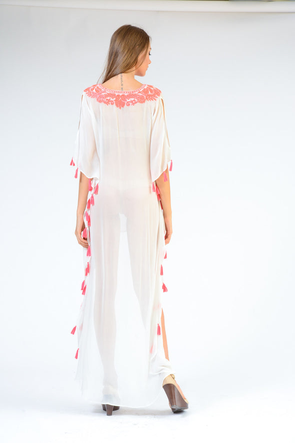 KK 071 - Ranee's White tassel dress - PREORDERS ONLY