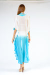 KK 079 - Ranee's White and Turquoise Bliss Dress - PREORDERS ONLY