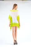 KK 080 - Ranee's White and Lime Short Kaftan - PREORDERS ONLY