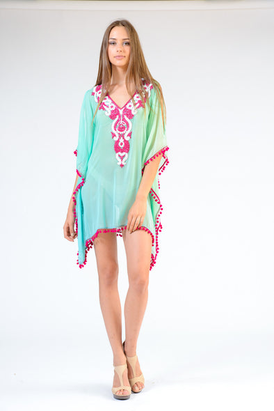 KK 091 - Ranee's sea foam Coverup - PREORDERS ONLY