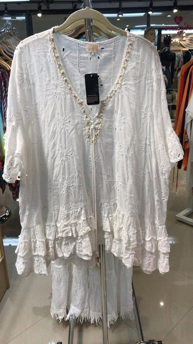 Ranee's white eyelet coverup