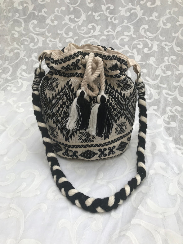 Bucket bag, beach boho mochilla bag!
