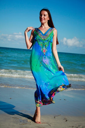 BLUE SEA AND SHELLS MAXI