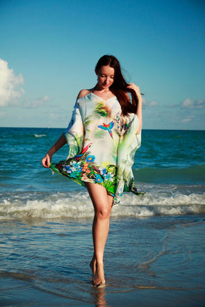 101 Tropical birds tunic - drop shoulder