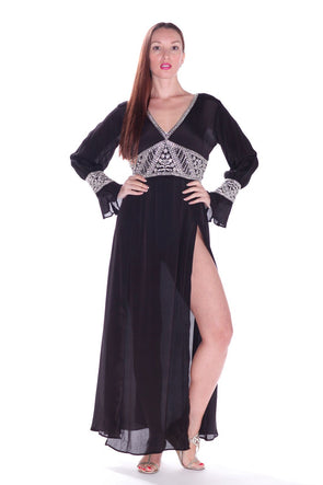 Belle Reine Maxi with crystal embellishments.
