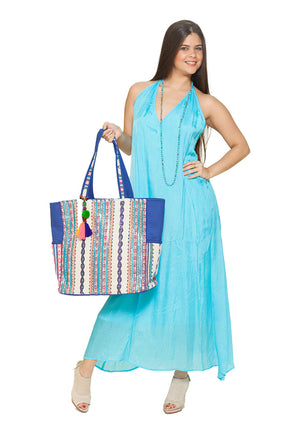 BD - Baby Blue, backless dress, with accessories in the back, three way dress!