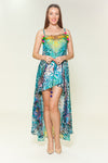 Two layer silk dress