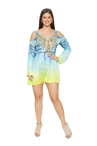 539 BEAUTIFUL COMBINATION OF COLORS- COLD SHOULDER