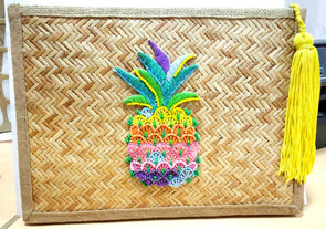 BAMBOO PINEAPLE CLUTCH