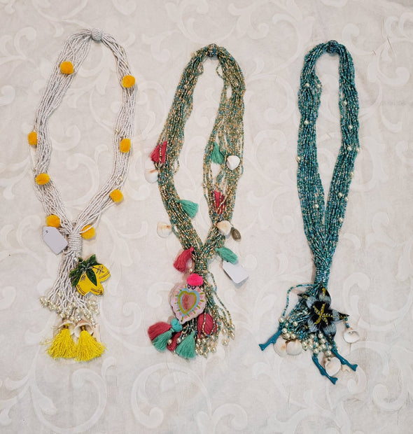 Colorful bead jewelry