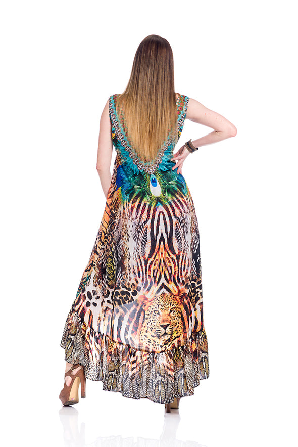 Animal print exotic Hawaii dress