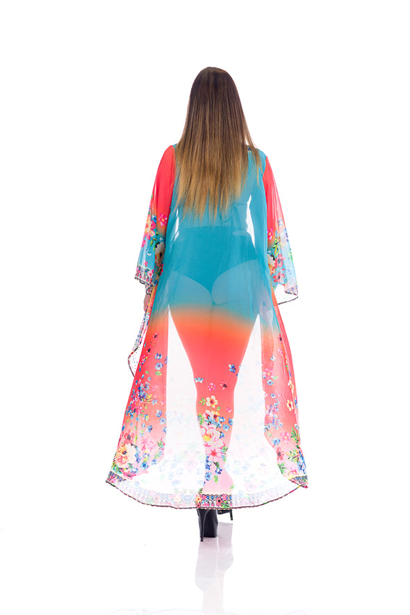 Free spirit, flowing Duster, kimono, resort-wear, perfect coverup or pair it with shorts