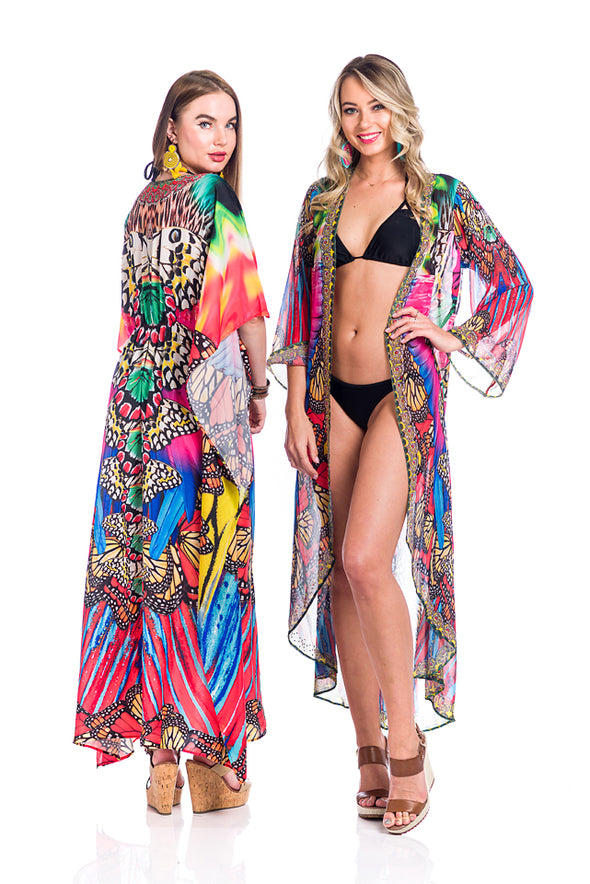 Duster, kimono, resort-wear, perfect coverup or pair it with shorts