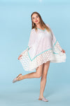 White lace kaftan, resort wear, beach wear, tunic