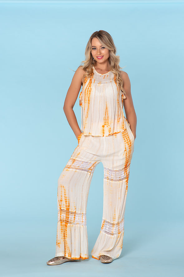 Tie Dye Vacation pants set perfect for the hot summer days