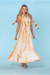 Tie Dye Vacation Dress, perfect for the hot summer days, bohemian tassels