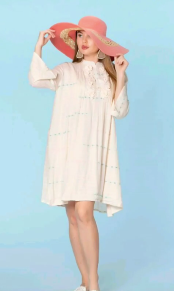 White tunic dress, resort collection