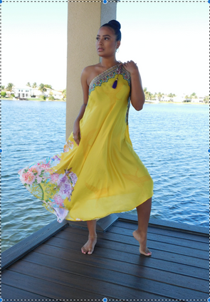 YELLOW MUSE  THREE WAY DRESS