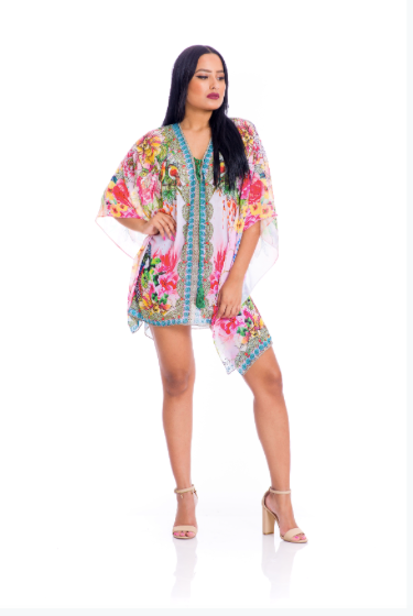 Beautiful blooming tassel kaftan
