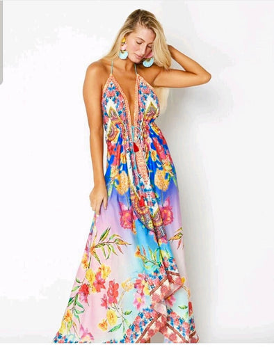 Hawaii dress, floral dress.