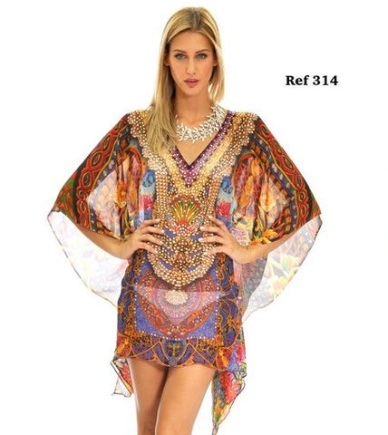 Ranee's Wine short kaftan -314