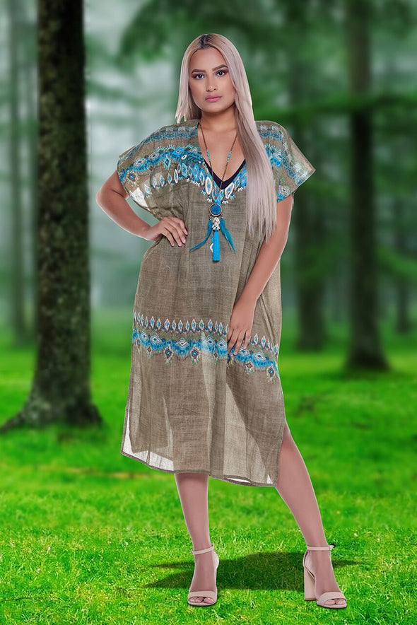 Cotton Kaftan, great for summer!
