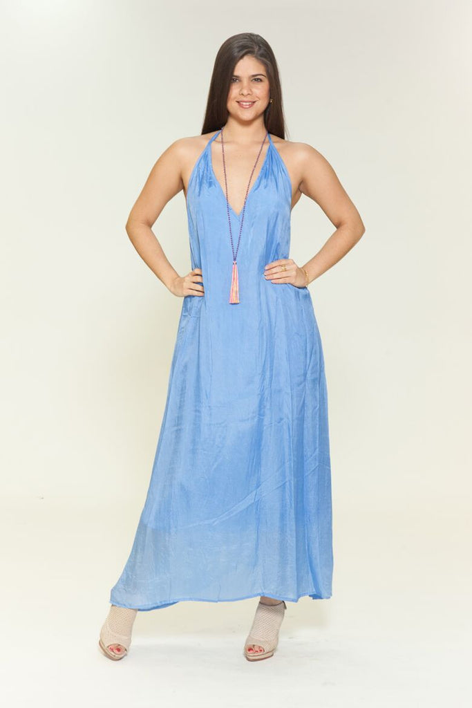 Backless Periwinkle Dress