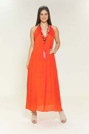 BD - Tangerine Sexy Backless dress, three way dress.