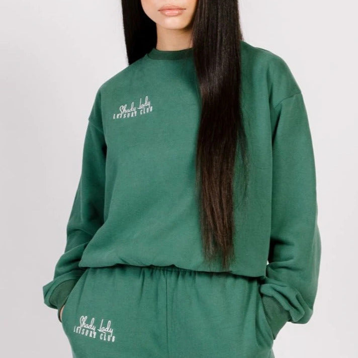 Butter Fleece Crewneck (Green)