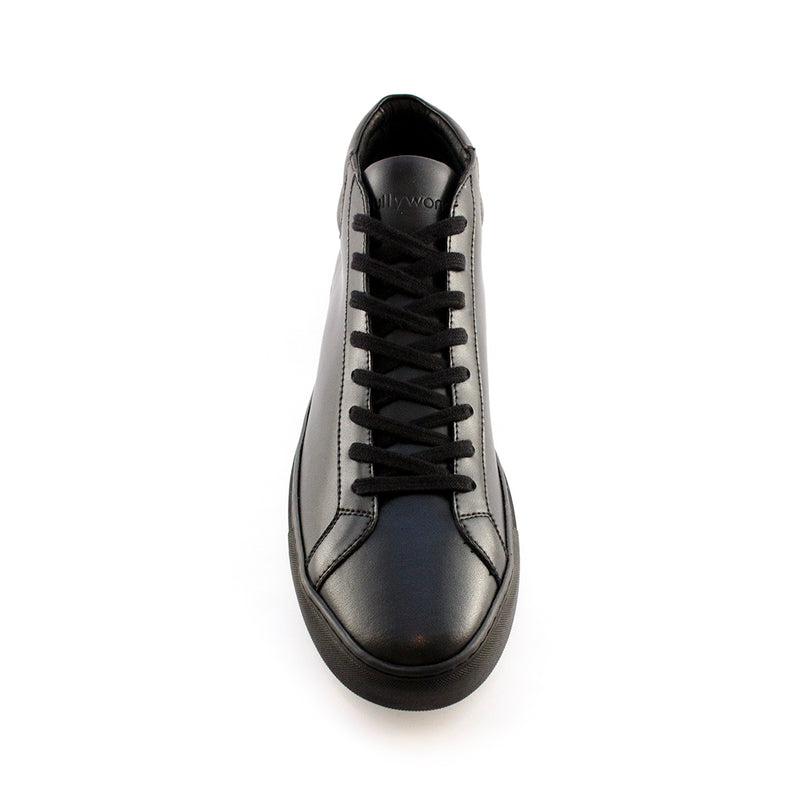 Sully Wong - Micro Mid (Black) mid top black leather sneaker